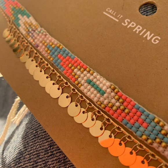 Call It Spring Jewelry - Beaded / gold coin Choker
